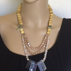 """Time and tru Necklace Mix of Genuine and Glass 18"""""""